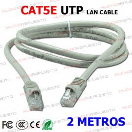 CABLE RED UTP CAT5E RJ45 2...