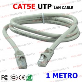 CABLE RED UTP CAT5E RJ45 1...