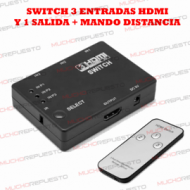 SWITCH HDMI (3 ENTRADAS + 1...