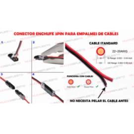 CONECTOR ENCHUFE DE 2PIN...