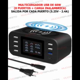 MULTICARGADOR USB 8 PUERTOS...