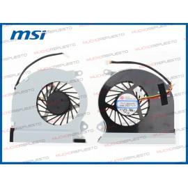 VENTILADOR MSI GE70 Series...