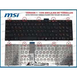 TECLADO MSI GP60 / GP70 /...