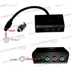 CABLE RGB COMPONENTES+SVIDEO 4PIN A SVIDEO 9PIN