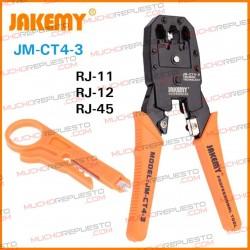 JAKEMY JM-CT4-3 GRIMPADORA CABLE RED RJ11/RJ12/RJ45 (4P/6P/8P)