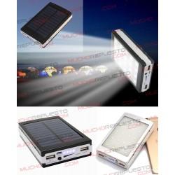 POWERBANK 12000mAh 2 USB 5V 1A/2A SOLAR+LINTERNA