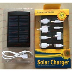 POWERBANK 30000mAh 2 USB 5V 1A/2A SOLAR+8CONECTORE