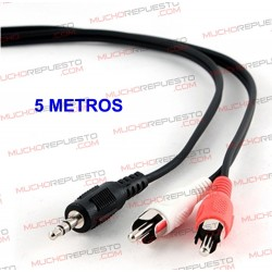 CABLE AUDIO JACK 3.5mm A 2...