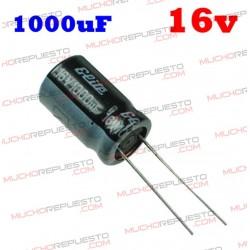 Condensador electrolítico 1000uF. 16V