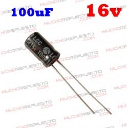 Condensador electrolítico 100uF. 16V
