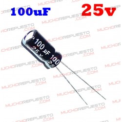 Condensador electrolítico 100uF. 25V