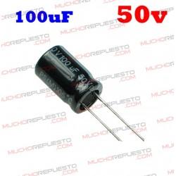 Condensador electrolítico 100uF. 50V