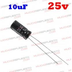 Condensador electrolítico 10uF. 25V