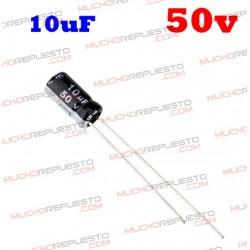 Condensador electrolítico 10uF. 50V