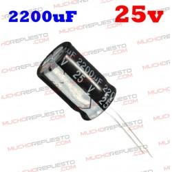Condensador electrolítico 2200uF. 25V