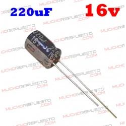 Condensador electrolítico 220uF. 16V