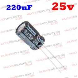 Condensador electrolítico 220uF. 25V
