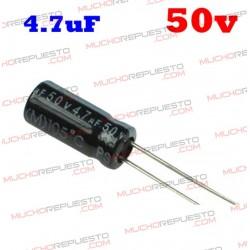 Condensador electrolítico 4.7uF. 50V