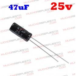 Condensador electrolítico 47uF. 25V