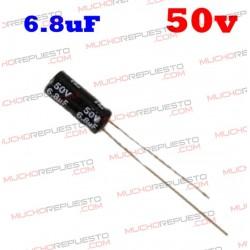 Condensador electrolítico 6.8uF. 50V