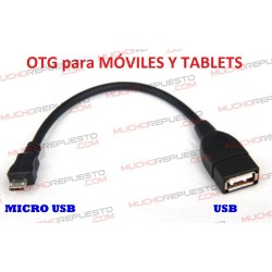 CABLE OTG MICRO USB PARA MOVILES Y TABLETS