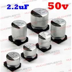 Condensador electrolítico SMD 2.2uF. 50V (4x5mm)
