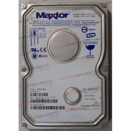HDD IDE MAXTOR Diamond Plus 9 YAR41BW0 120GB 3.5""