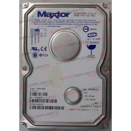 """HDD IDE MAXTOR Diamond Plus 9 YAR41BW0 80GB 3.5"""""""