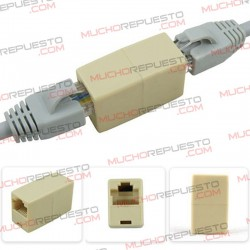 CONECTOR EXTENSOR LAN CABLE RED RJ45