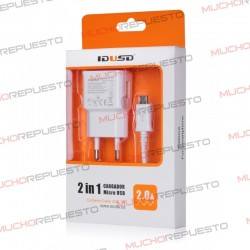 CARGADOR USB DE PARED 5V 2A + CABLE