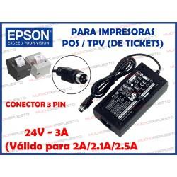 CARGADOR IMPRESORA DE TICKETS EPSON PS-180/PS-179/PS-170 24V 3A