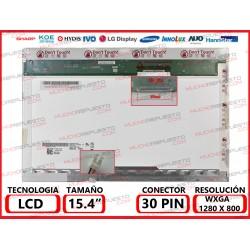 "PANTALLA 15.4"" LCD (1280x800) 1CCFL BRILLO CONECTOR SUPERIOR DERECHA"
