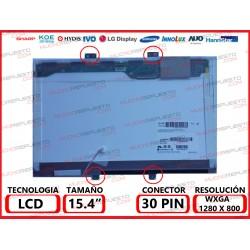 """PANTALLA 15.4"""" LCD (1280x800) 1CCFL REFURBISHED CONECTOR SUPERIOR DERECHA (CONECTOR 1)"""