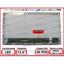 "PANTALLA 15.6"" LED (1366x768) CONECTOR BAJO DERECHA 40PIN"