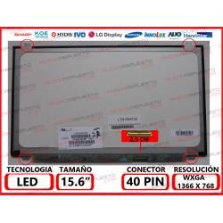 """PANTALLA 15.6"""" LED (1366x768) SLIM 4 ANCLAJES SUPERIOR/INFERIOR CONECTOR BAJO DERECHA 40PIN"""