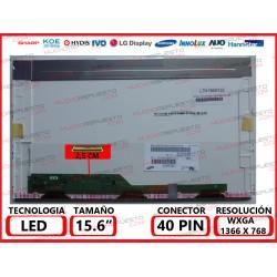 "PANTALLA 15.6"" LED (1366x768) CONECTOR BAJO IZQUIERDA 40PIN"