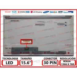 "PANTALLA 15.6"" LED (1366x768) CONECTOR BAJO IZQUIERDA 30PIN"