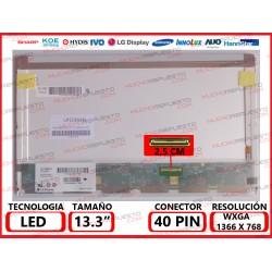 "PANTALLA 13.3"" LED (1366x768) CONECTOR BAJO DERECHA 40PIN"