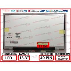 """PANTALLA 13.3"""" LED (1366x768) SLIM CONECTOR BAJO DERECHA"""