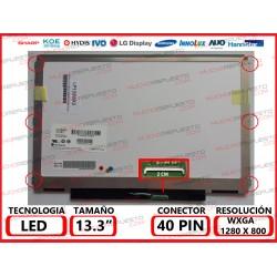 """PANTALLA 13.3"""" LED (1280x800) SLIM 4/6 PUNTOS ANCLAJE BRACKET COMPLETO CONECTOR BAJO DERECHA"""