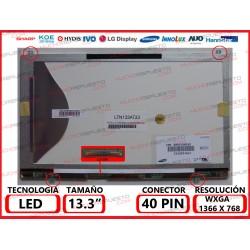 """PANTALLA 13.3"""" LED (1366x768) SLIM 4 PUNTOS ANCLAJE SUPERIOR/INFERIOR CONECTOR BAJO IZQUIERDA"""
