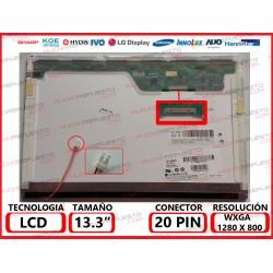 "PANTALLA 13.3"" LCD (1280x800) 1CCFL CONECTOR 20PIN SUPERIOR DERECHA"