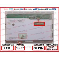 "PANTALLA 13.3"" LCD (1280x800) 1CCFL CONECTOR SUPERIOR DERECHA"
