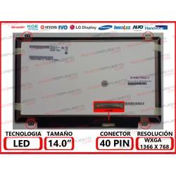 "PANTALLA 14"" LED (1366x768) SLIM 4 ANCLAJES SUPERIOR/INFERIOR 40PIN"