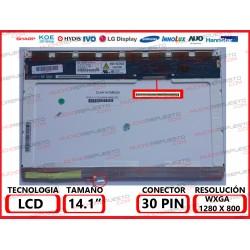"PANTALLA 14.1"" LCD (1280x800) 1CCFL CONECTOR SUPERIOR DERECHA"
