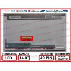 "PANTALLA 14"" LED (1366x768) CONECTOR BAJO IZQUIERDA 40PIN"