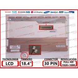 "PANTALLA 18.4"" LCD (1920x1080) 2CCFL (Doble Lampara) CONECTOR SUPERIOR DERECHA"