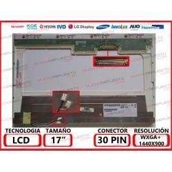 "PANTALLA 17.0"" -17.1"" LCD (1440x900) 2CCFL (Doble Lampara) CONECTOR SUPERIOR DERECHA"