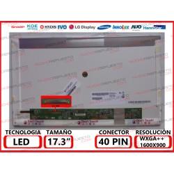 "PANTALLA 17.3"" LED (1600x900) CONECTOR BAJO IZQUIERDA 40PIN"