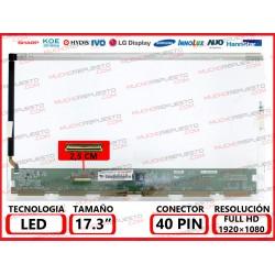 "PANTALLA 17.3"" LED (1920x1080) CONECTOR BAJO IZQUIERDA 40PIN"